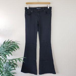 Anthropologie Level 99 | Black Dahlia Flare Jeans